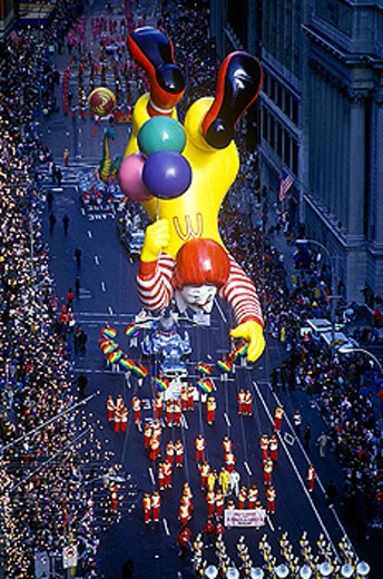 Mc donald´s balloon, Macy´s thanksgiving day parade, Manhattan, New York, USA. : Stock Photo