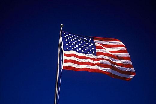 Stock Photo: 1566-333834 United states flag.