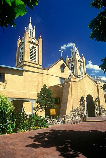 Church of san filipe de neri, Albuquerque, New mexico, USA. : Stock Photo