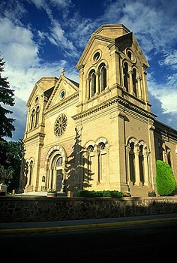 Stock Photo: 1566-334511 Saint francis cathedral, Santa fe, New mexico, USA.