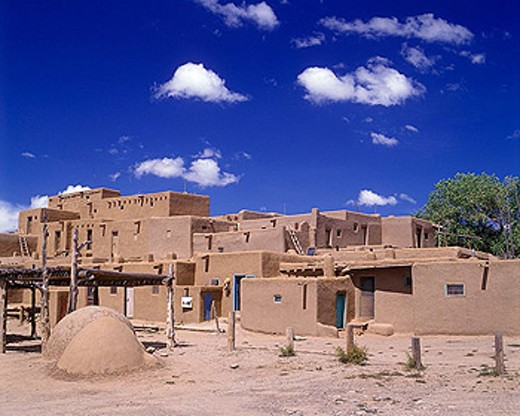 Adobe buildings, Taos pueblo, Taos, New mexico, USA. : Stock Photo