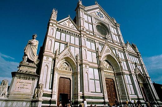 Basilica of the Santa Croce, Florence. Tuscany, Italy : Stock Photo