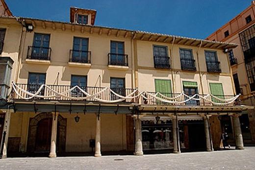 Stock Photo: 1566-336469 Plaza Mayor or Ayuntamiento, Astorga, León province. Castilla y León, Spain.