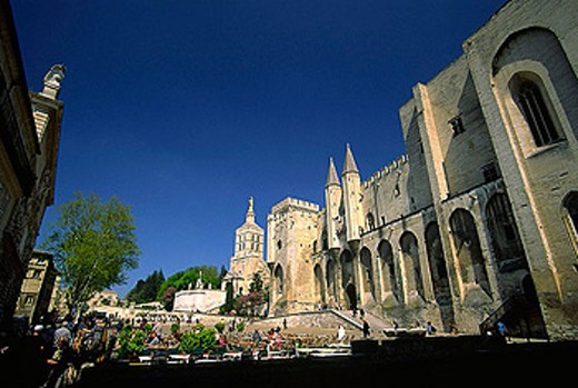 Papal Palace. (Palais des Papes). Avignon. Vaucluse. Provence. France. : Stock Photo