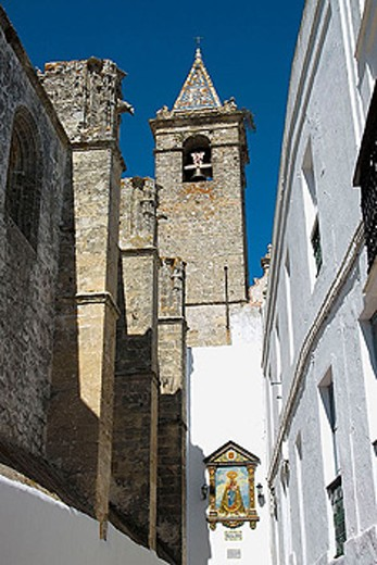 Stock Photo: 1566-337420 Church of the Divino Salvador (14th century), Vejer de la Frontera. Cádiz province, Andalusia, Spain