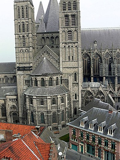 Stock Photo: 1566-337518 Notre-Dame cathedral. Tournai. Belgium.