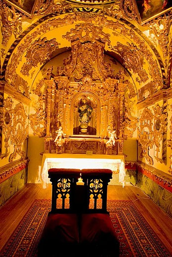 Holy Trinity Church. Atienza, Guadalajara province. Castilla-La Mancha. Spain. : Stock Photo