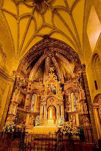 Holy Trinity Church. Atienza, Guadalajara province. Castilla-La Mancha. Spain. : Stock Photo