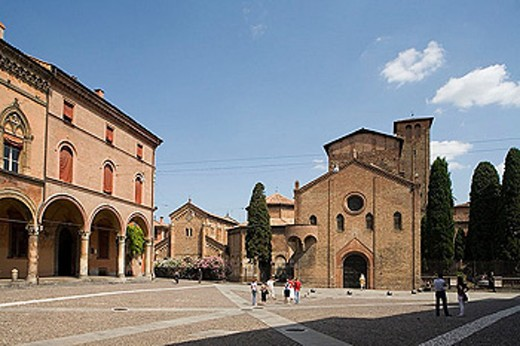 Church complex of Santo Stefano, Bologna. Emilia-Romagna, Italy : Stock Photo