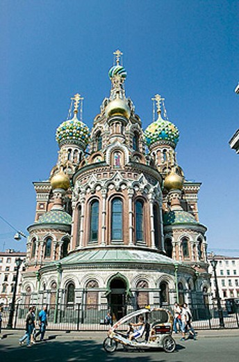 Stock Photo: 1566-339005 Church of the Savior on Spilled Blood. St Petersburg. Russia