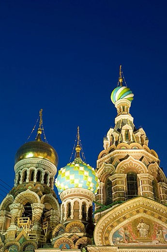 Stock Photo: 1566-339021 Church of the Savior on Spilled Blood at night. St Petersburg. Russia