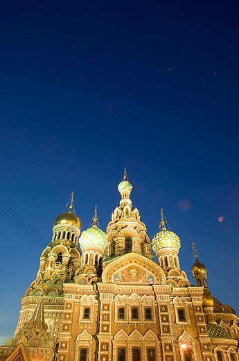 Stock Photo: 1566-339022 Church of the Savior on Spilled Blood at night. St Petersburg. Russia