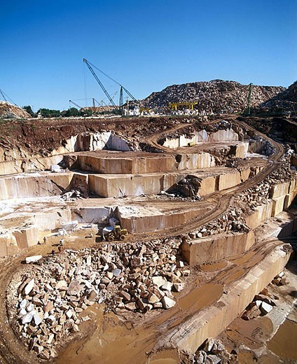 Marble quarry. Vila Viçosa. Alentejo, Portugal. : Stock Photo