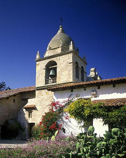 San carlos borromeo mission, Carmel, California, USA. : Stock Photo