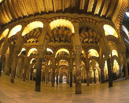 Arches, Mosque of the caliphs, Cordoba, Andalusia, Spain. : Stock Photo