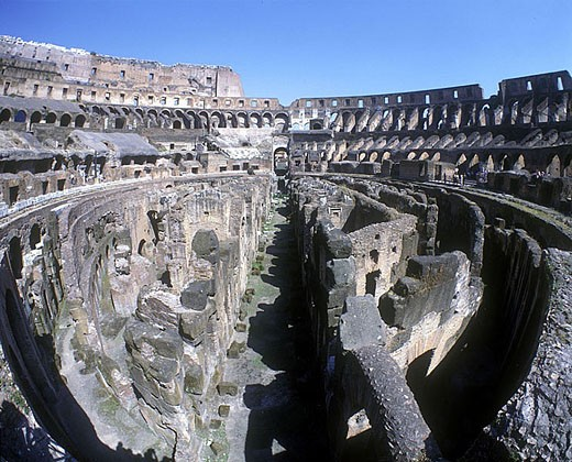 Coloseum ruins, Rome, Italy. : Stock Photo