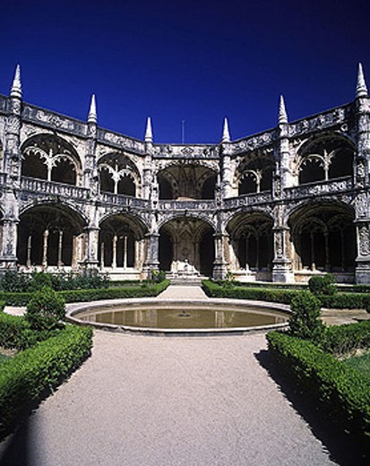 Stock Photo: 1566-340712 Jeronimos monastery, Lisbon, Portugal.