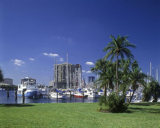 Stock Photo: 1566-341095 Saint petersburg yatch club, Saint petersburg, Florida, USA.