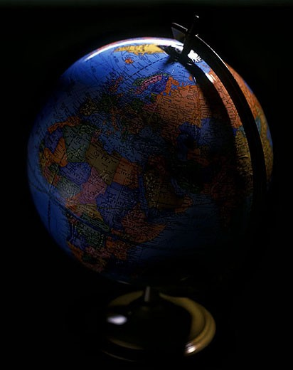 Political planet earth globe. : Stock Photo
