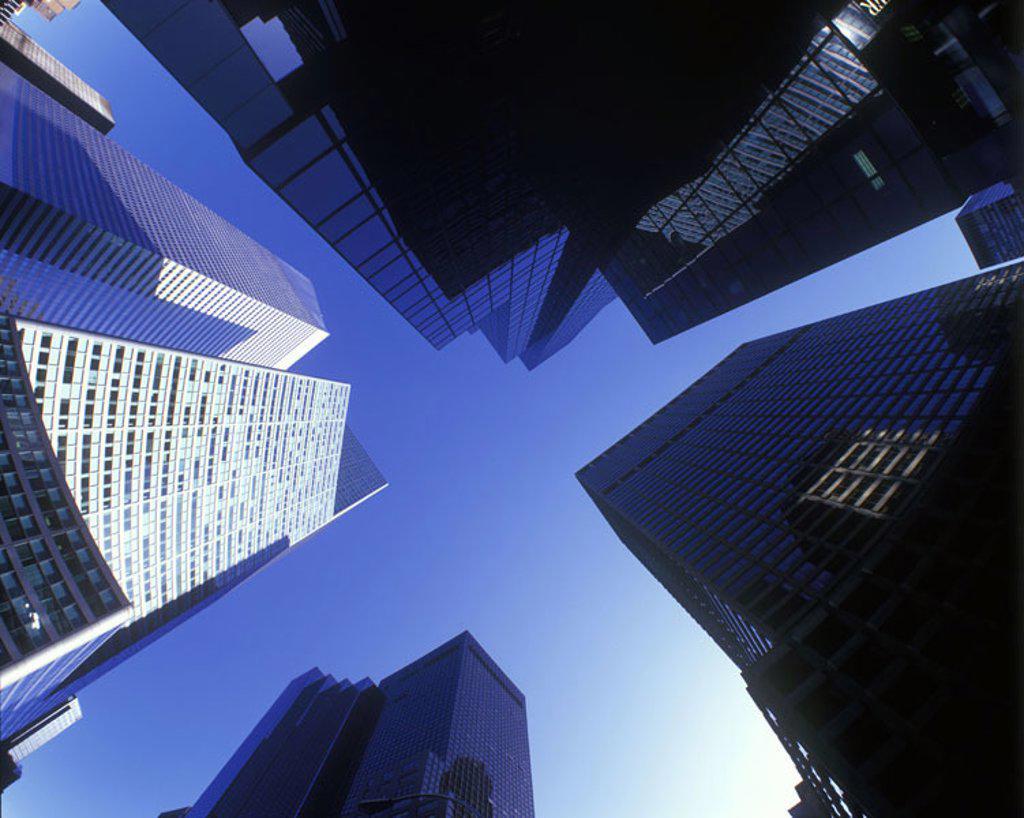 Stock Photo: 1566-341358 Architecture: talloffice towers, Mid-town, Manhattan, New york, USA.