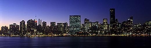Stock Photo: 1566-342149 Mid-town skyline, Manhattan, New York, USA.