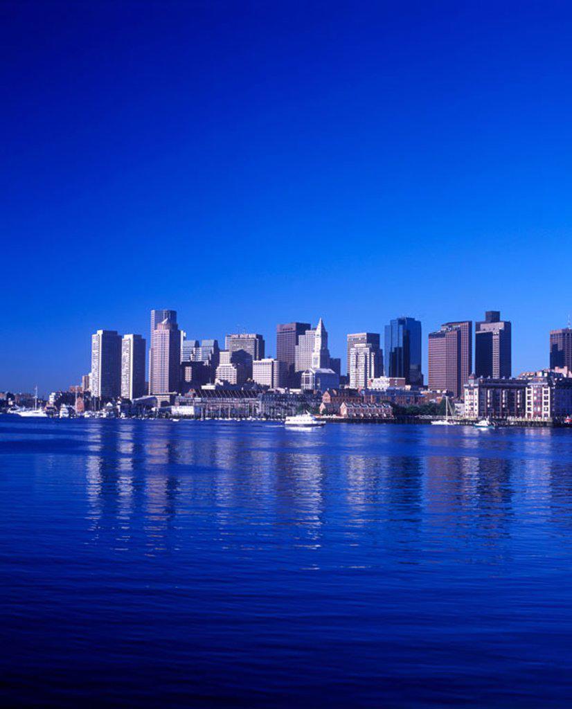 Stock Photo: 1566-342264 Downtown, inner harbor, Boston, Massachusetts, USA.
