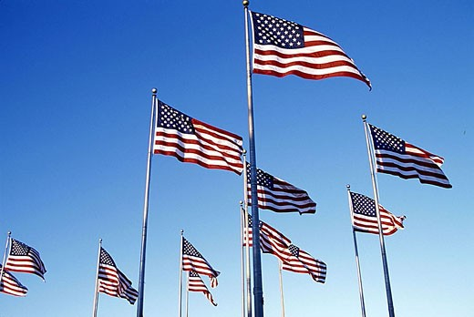 United states flags. : Stock Photo