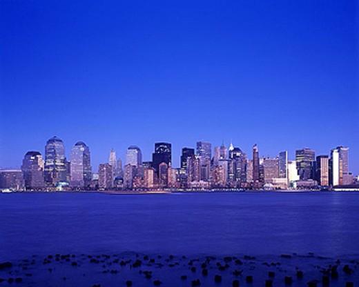 Downtown skyline, Manhattan, New York, USA. : Stock Photo