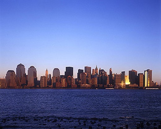 Stock Photo: 1566-342388 Downtown skyline, Manhattan, New York, USA.