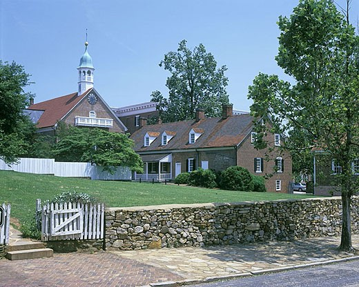 Stock Photo: 1566-342724 Old salem village, Winston-salem, North carolina.