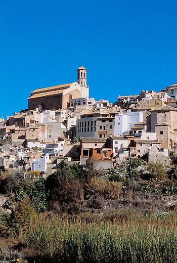 Cehegin. Santa Maria Magdalena church, XV-XVIth century. Murcia province. : Stock Photo