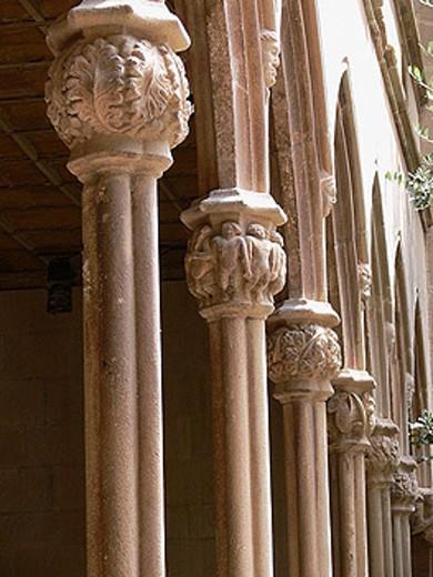 Cloister of Montserrat  monastery. Barcelona province, Spain : Stock Photo