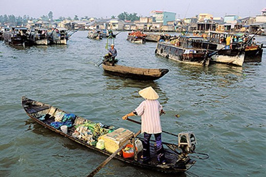Stock Photo: 1566-344360 Vietnam. Mekong Delta. Can Tho.