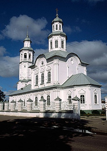 Stock Photo: 1566-345815 St. Trinity church (1770-75), Makarye, Vyatka region, Russia