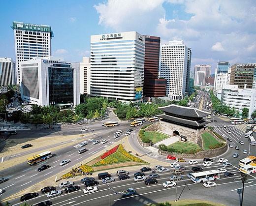 South Gate. Namdaemun district, Seoul. South Korea : Stock Photo