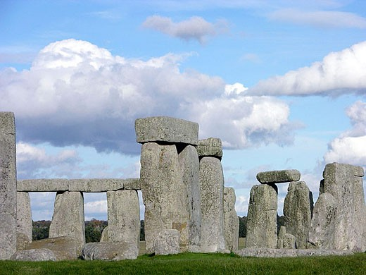 Stonehenge circle. Salisbury plain, Southern England. UK : Stock Photo