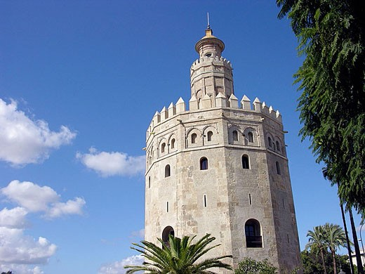 Stock Photo: 1566-347473 Torre del oro (Gold Tower), Seville, Andalusia, Spain