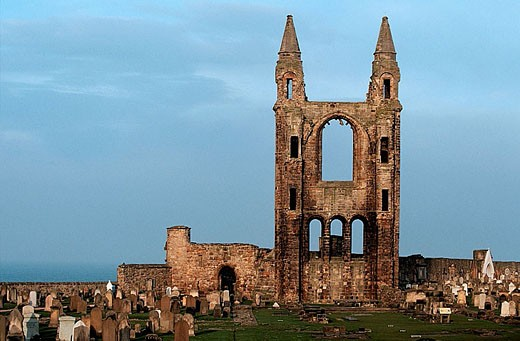 Ruins of St. Rule´s church and cathedral. St. Andrews. Fife. Scotland. UK : Stock Photo