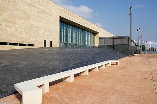 Riojaforum, Convention Center and auditorium of La Rioja, by José Manuel Barrio and Alberto Sáinz de Aja (BSA), Logroño, La Rioja. Spain. : Stock Photo