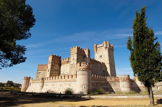 Stock Photo: 1566-350584 La Mota Castle (15th century), Medina del Campo. Valladolid province, Castilla-León, Spain