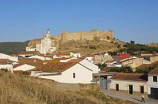 Stock Photo: 1566-350607 Sancho IV castle (c. 1293), Santa Olalla del Cala. Sierra de Aracena y Picos de Aroche Natural Park, Via de la Plata. Huelva province, Andalusia, Spain