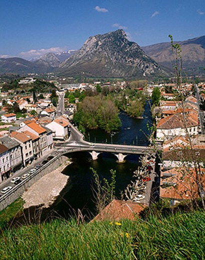 Stock Photo: 1566-351835 Tarascon. Ariège département, France
