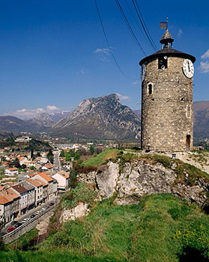 Stock Photo: 1566-351837 Tarascon. Ariège département, France