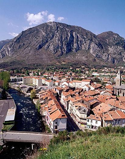 Stock Photo: 1566-351838 Tarascon. Ariège département, France