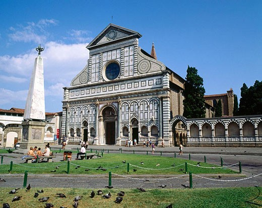 Church of Santa Maria Novella. Florence. Italy  (1279 - 1360) : Stock Photo