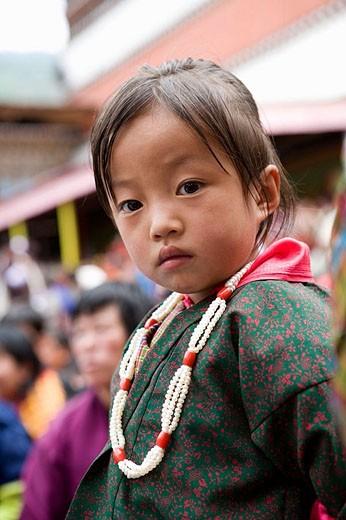 Stock Photo: 1566-352165 Little girl. Thimphu. Bhutan