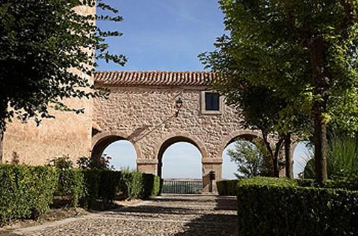 Pasadizo Mirador, Santa Teresa convent. Plaza de Santa Clara, Lerma, Castilla y Leon. Spain. : Stock Photo