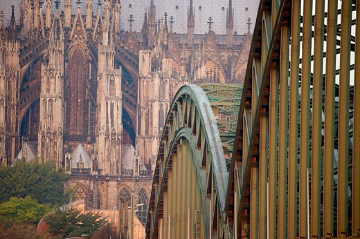 Cologne Cathedral (most famous Gothic structure in Germany), also called the Kolner Dom, begun in 1248. Cologne (Koln) one of the oldest cities in Germany. : Stock Photo