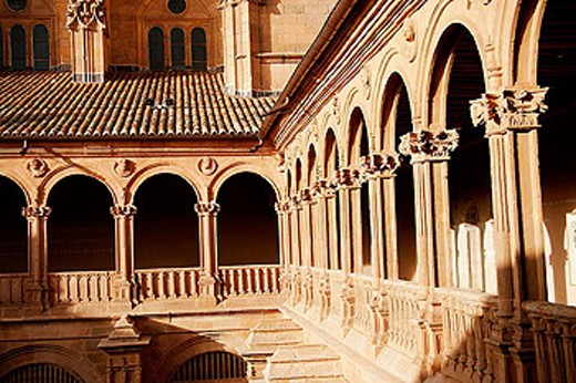 Stock Photo: 1566-353914 Cloister of San Esteban convent (16th century), Salamanca. Castilla-León, Spain