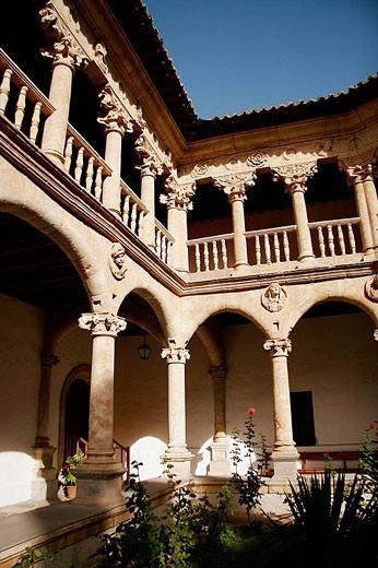 Stock Photo: 1566-353926 Cloister of Convento de las Dueñas, Salamanca. Castilla-León, Spain